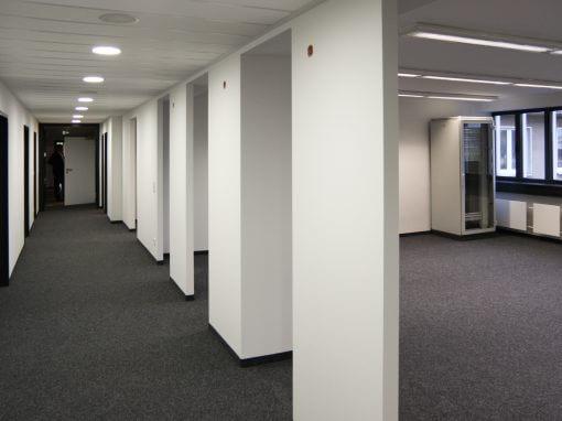 Mieterausbau. Patentanwaltskanzlei Immermann Tower, Düsseldorf.